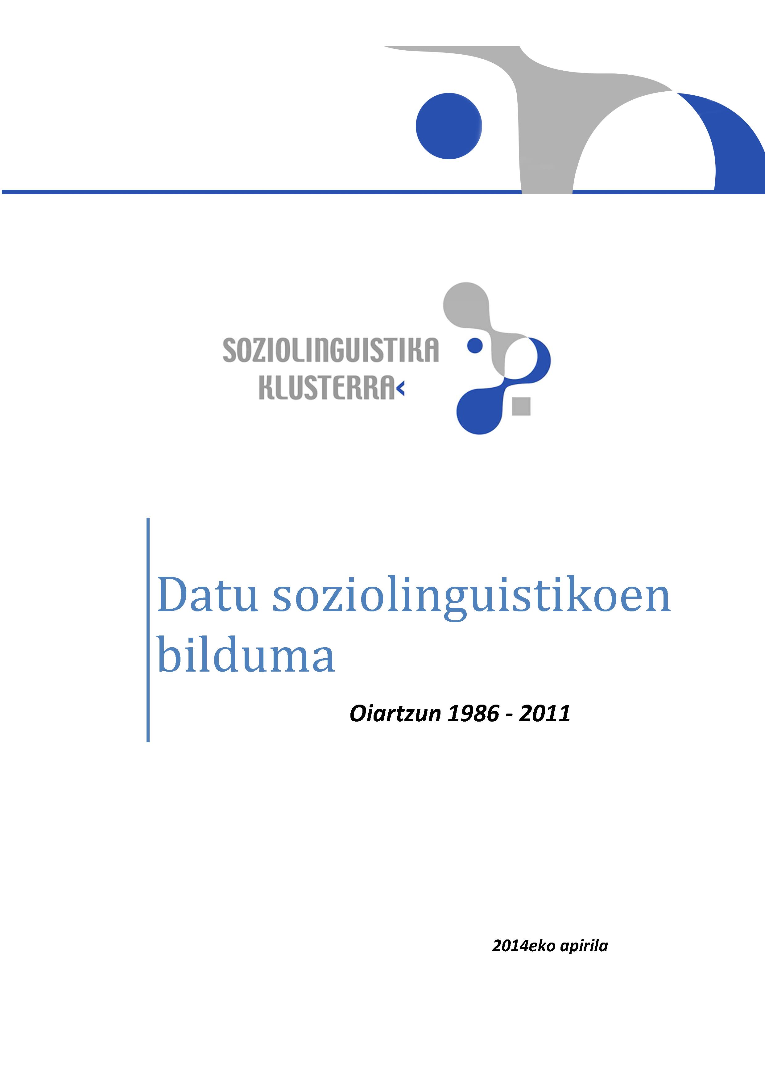 Datu Sozioliguistikoen bilduma 1986-2011